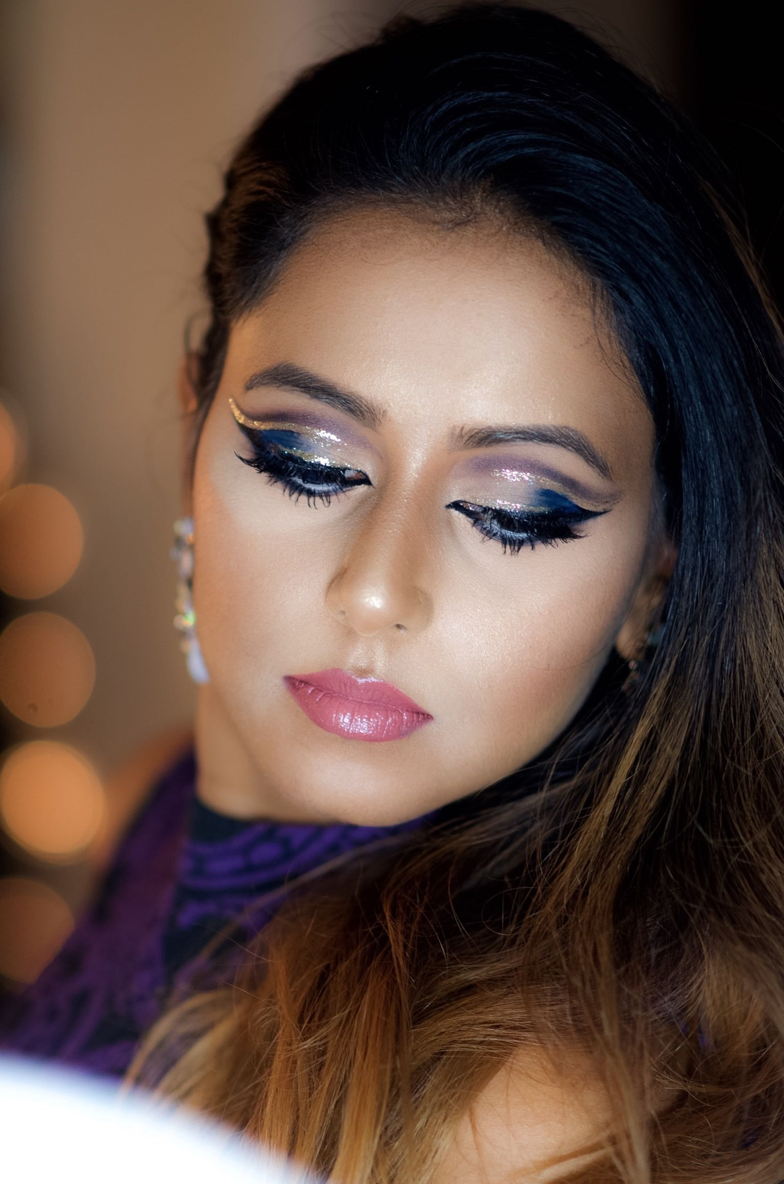 GLITTER DOUBLE CUT CREASE MAKEUP FOR HOLIDAYS \u2013 Indian ...