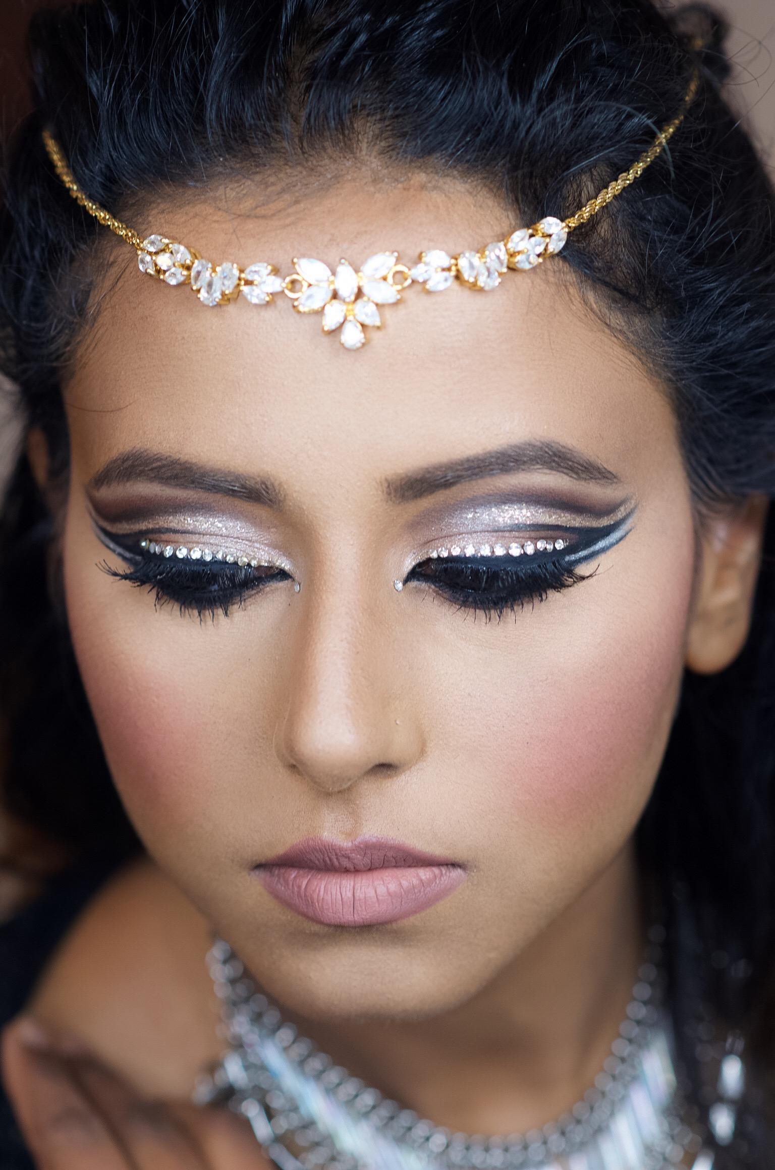 DOUBLE CUT CREASE BLING MAKEUP LOOK \u2013 Indian Bridal Makeup ...