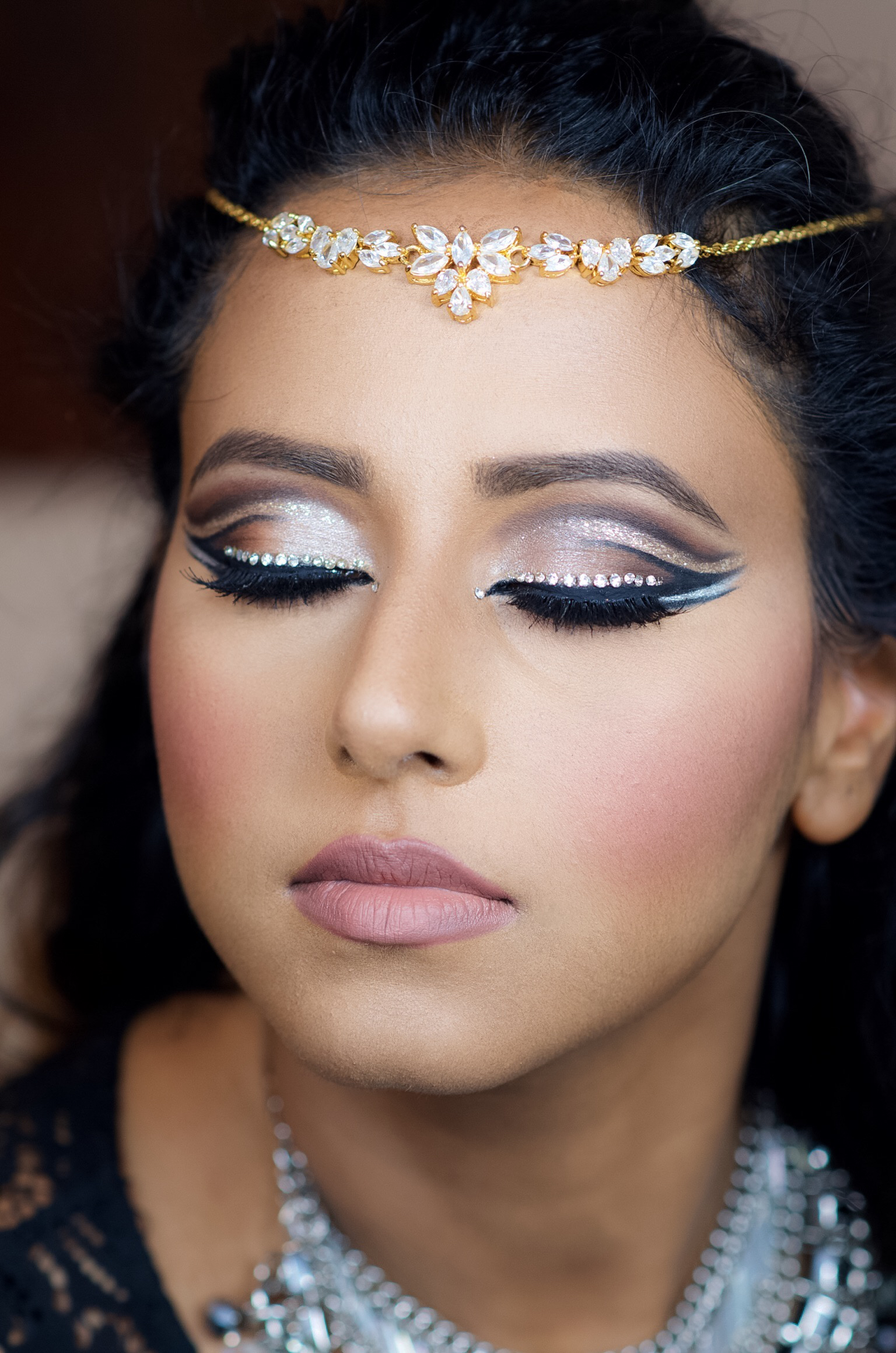 double cut crease bling makeup look � indian bridal makeup