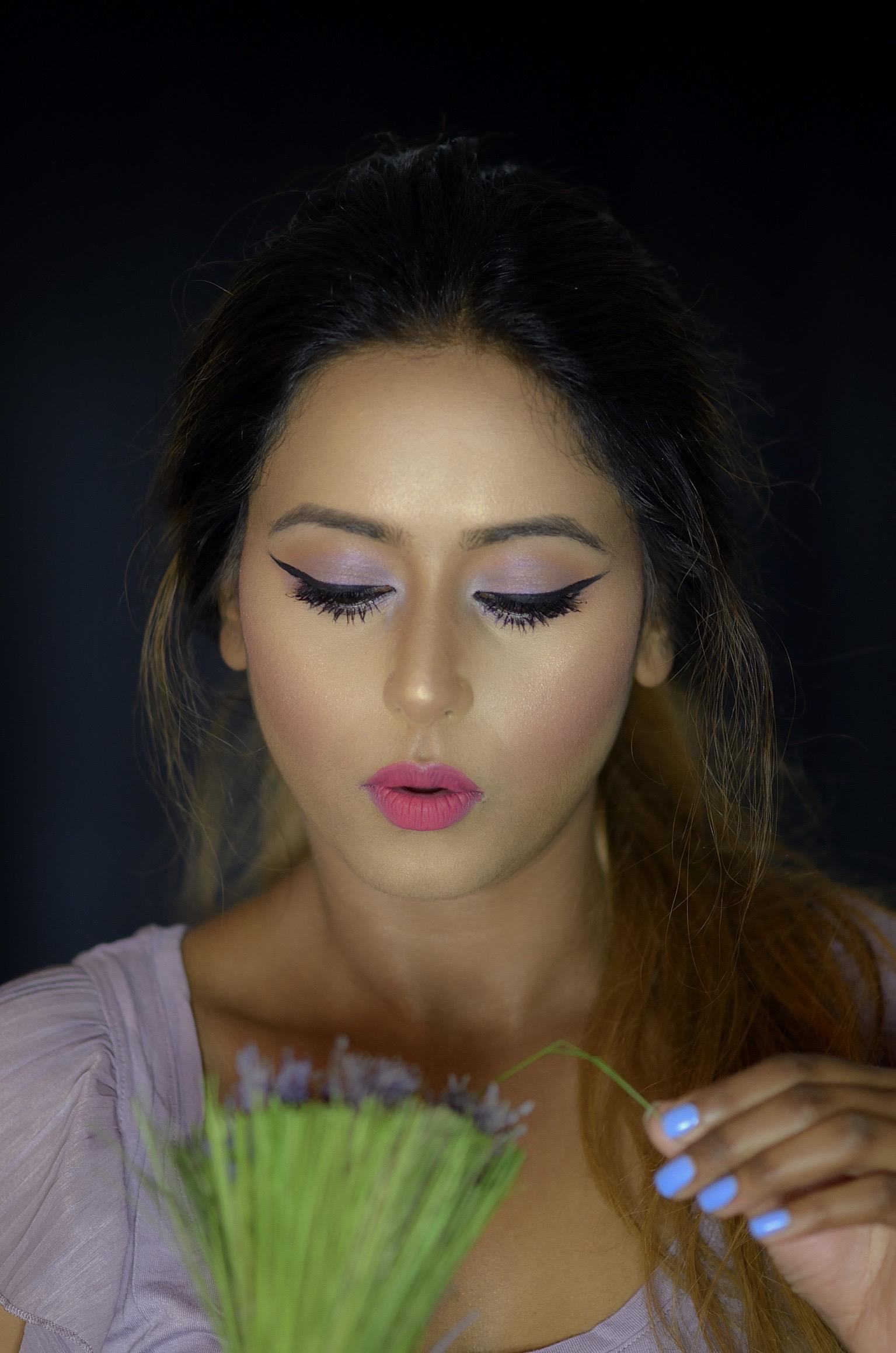 Lavender Lilac Makeup Look Indian Bridal Makeup Boston