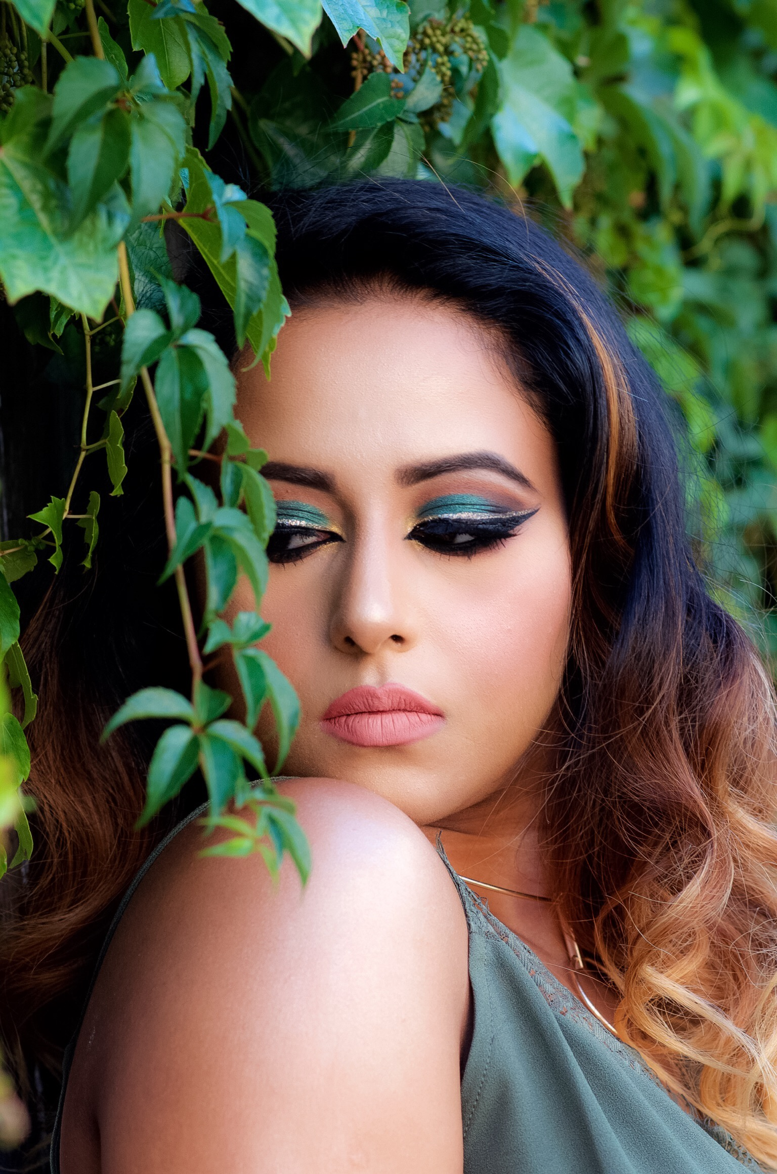 Green Soft Smokey Eye Makeup Look Indian Bridal Makeup