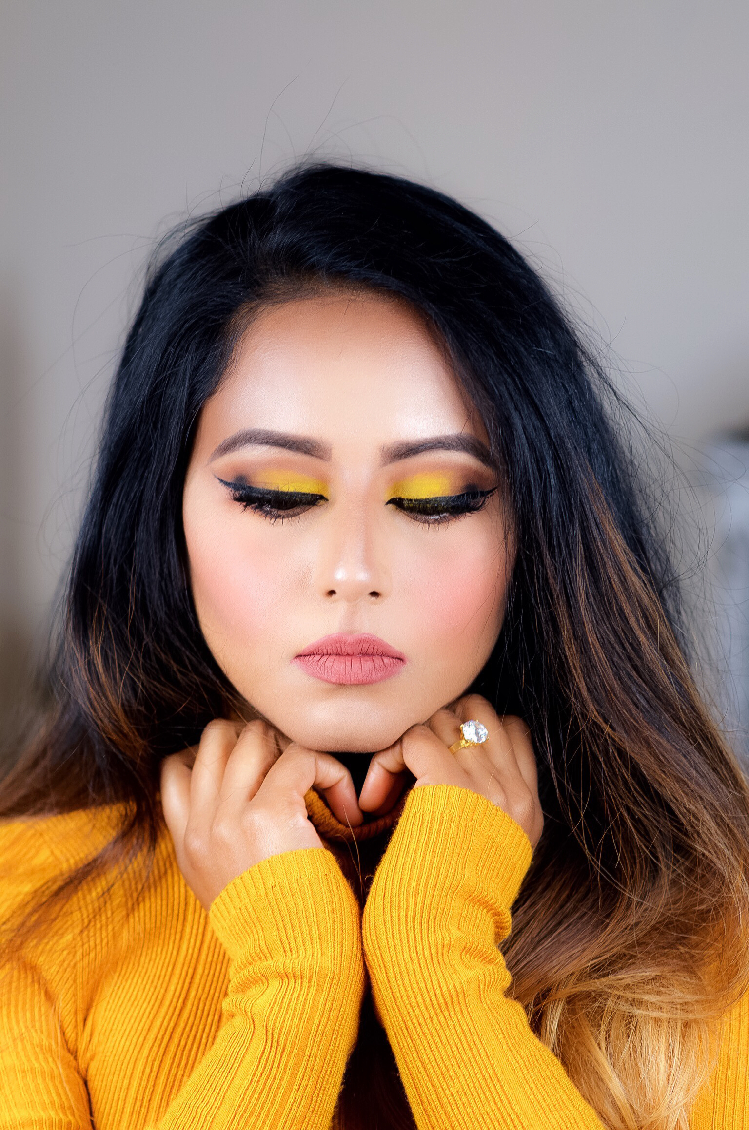 Fall Chrome Yellow Makeup Look Indian Bridal Makeup Boston