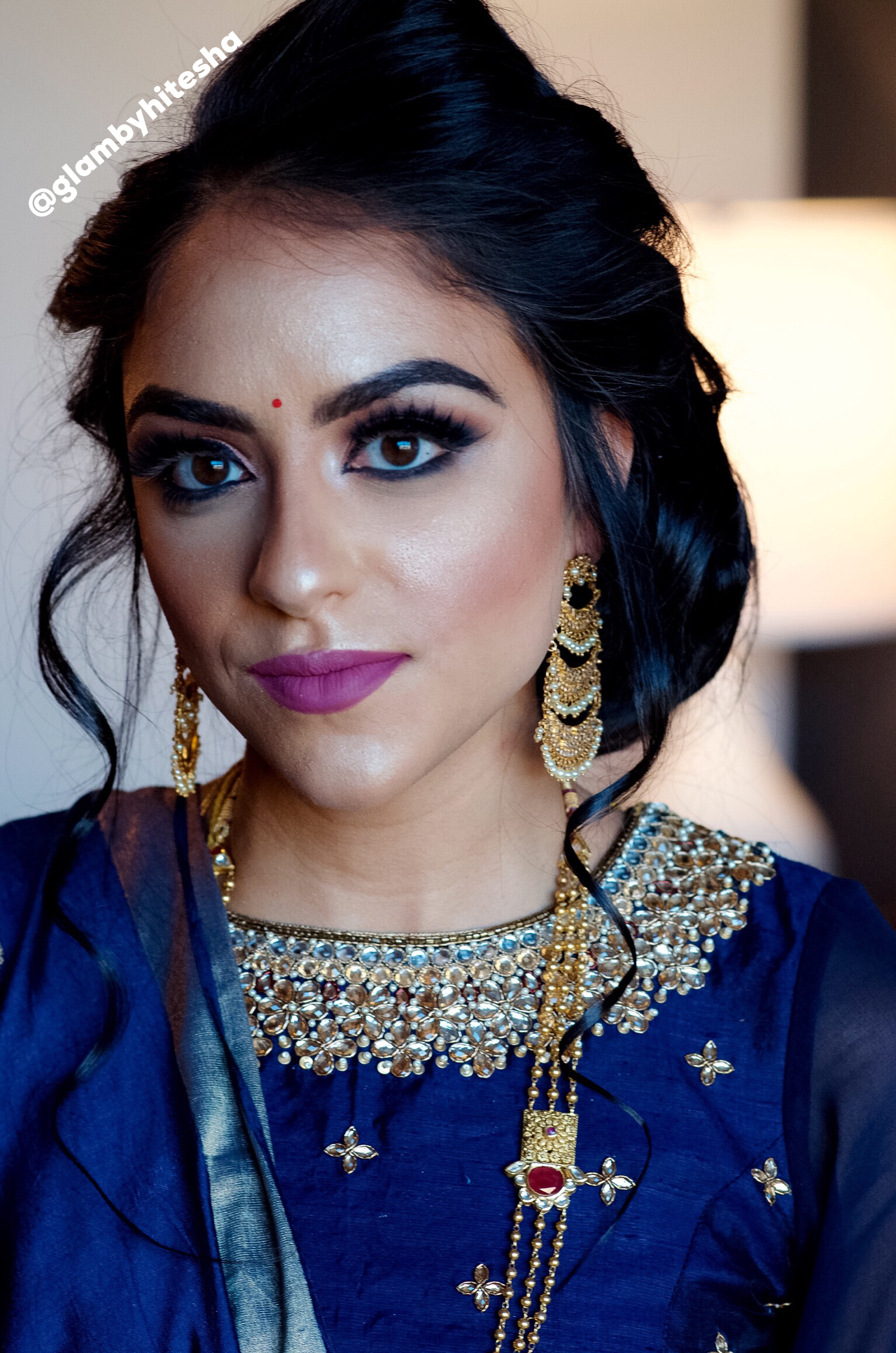 Jasleen kaur Bridal reception portfolio Indian Bridal Makeup Boston